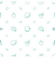 vegetarian icons pattern seamless white background vector image vector image