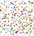 vibrant seamless pattern falling confetti vector image