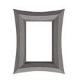 Vintage Wooden picture frame of black wood vector image vector image