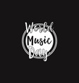 World music day celebration background vector image