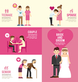 Family people flat design with icons concept vector image