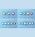 3 4 5 6 options infographic designs