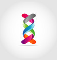 3d dna ribbon logo design symbol vector image