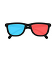 3d glasses isolated on background vector image vector image