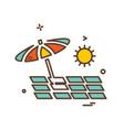 beach icon design vector image