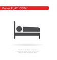bed icon for web business finance and vector image