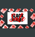 black friday holiday sale decoration elements vector image vector image