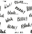 blah blah words hand written seamless pattern vector image vector image