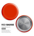 blank red badge realistic vector image vector image