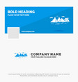 blue business logo template for mountain hill vector image