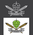 brewmaster craft beer design vector image vector image