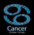 cancer ornamental decorative zodiac sign vector image