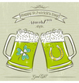 Card for St Patricks Day with beer mug vector image vector image