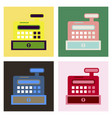 cash register in flat style money and finance vector image vector image
