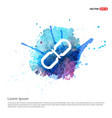 chain link icon - watercolor background vector image