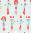 christmas background with spoon plug knife vector image