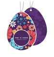 colorful bouquet flowers Easter egg shaped vector image vector image
