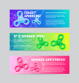 Colorful gradient fidget spinner banners