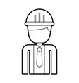 construction worker man with helmet character vector image vector image