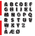 cute funny childish danish alphabet font vector image vector image