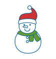 cute snowman character icon vector image vector image