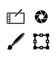 design simple related icons vector image