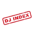 Dj Index Text Rubber Stamp vector image vector image