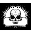 drawn skull vector image