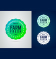 farm fresh round badge the premium quality vector image vector image