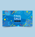 final sale colorful banner with trendy abstract vector image