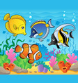 fish theme image 3 vector image