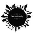 Frame with family silhouettes vector image vector image