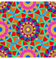 Geometric multicolor fractal mandala seamless vector image vector image
