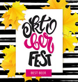 hand drawn oktoberfest lettering sale label vector image vector image