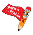 hero pencil cartoon character back to school vector image