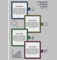 infographic template abstract with icons graph vector image