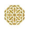 islamic golden pattern vector image