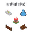 isometric city set of sitting garden decor vector image vector image