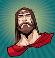jesus superhero portrait 2 vector image vector image