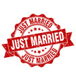 just married stamp sign seal vector image vector image