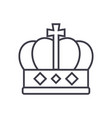 king crown line icon sign o vector image vector image