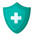 medical protection shield with health cross vector image