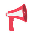 megaphone speaker loudspeaker icon announcement vector image