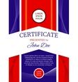Modern award certificate template vector image vector image