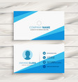 modern blue company business card vector image vector image