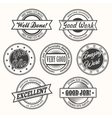 Motivative Badges Set vector image