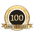 One Hundred Year Anniversary Badge vector image vector image