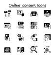 online content icon set graphic design vector image vector image