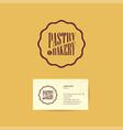 pastry bakery logo badge vector image