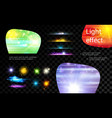 realistic light effects collection vector image vector image
